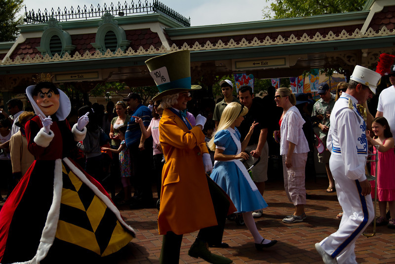 Character Party Just Inside Entrance Gates At Disneyland