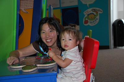 August 2, 2008 - Emily's first visit to the Houston Children's Museum