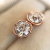 .74ctw Transitional Cut Diamond Earrings, Yellow Gold 16