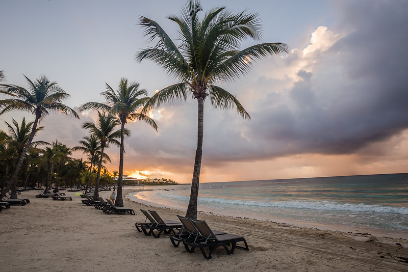 Sunrise on the beach in Mexico