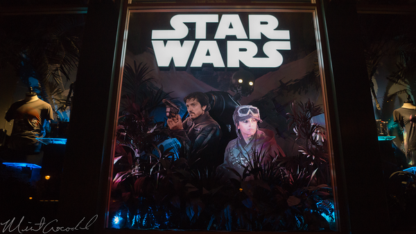 Disneyland Resort, Disneyland, Downtown Disney, Star Wars, Display, Rouge One, Rouge, One, 1