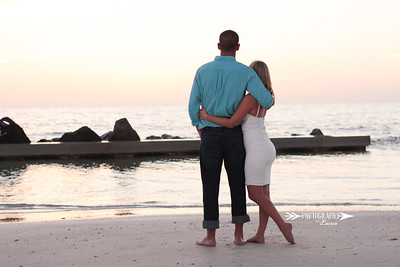 Sunset Engagement | Ashley & Luke | Honeymoon Island, FL | Photography by Laina