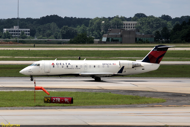 Bombardier CRJ-440  s/n 7969 N8969A Endeavor Air/Delta Connection Operating DL3357 to KOAJ (Jacksonville NC) Hartsfield-Jackson Atlanta, GA,    05/26/2018 This work is licensed under a Creative Commons Attribution- NonCommercial 4.0 International License
