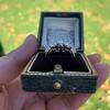 1.73ctw Blue Marquise Cut Diamond Trilogy Ring 10