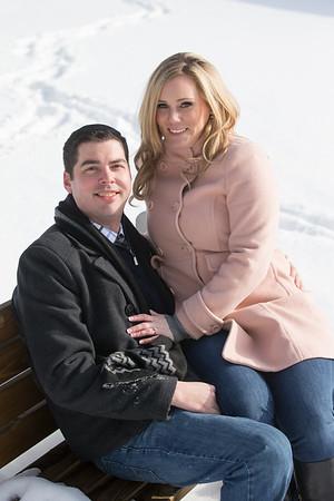 Winter Petoskey, Michigan Engagement Melanie and Jason