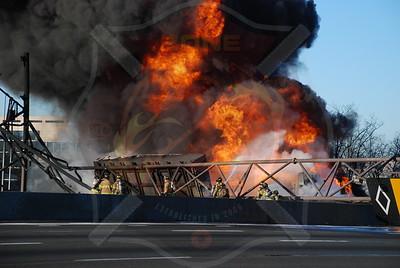 Melville F.D. Fatal Tanker MVA w/ Fire...L.I.E. 1/23/10
