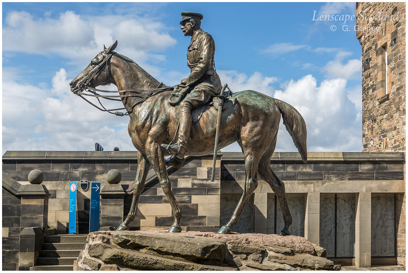 Field Marshal Earl Haig statue, Edinburgh Castle
