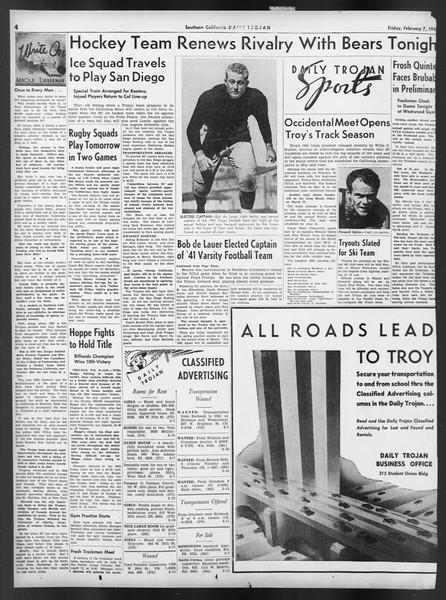Daily Trojan, Vol. 32, No. 76, February 07, 1941