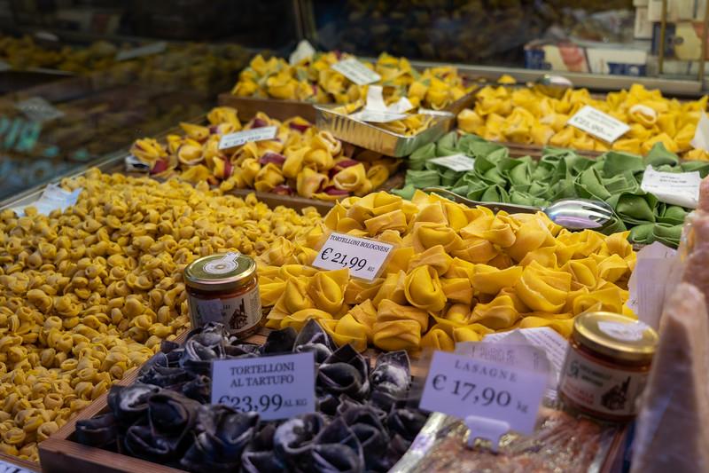 Fresh pasta in Bologna