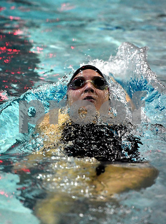 10/24/2017 Mike Orazzi | Staff Bristol Central's Meghan Curtis during Tuesday's swim meet with Eastern.