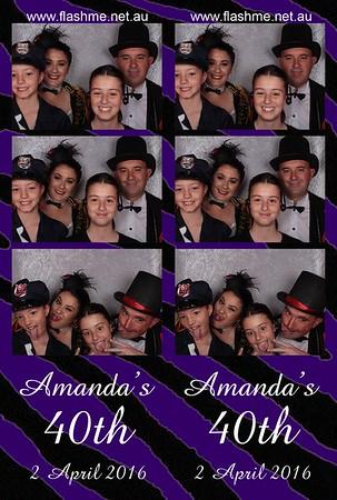 Amanda's 40th - 2 April 2016