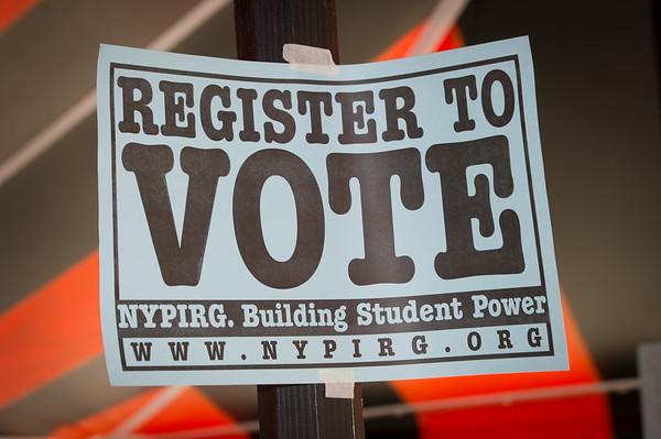 9/25/20 Student Voter Registration Event in Plaza