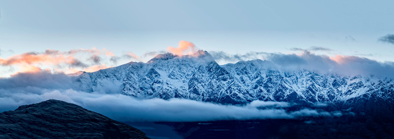 Sunrise Light Over the Remarkables