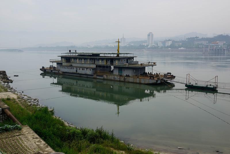 Our ship, the Yangtze Explorer.  Not.