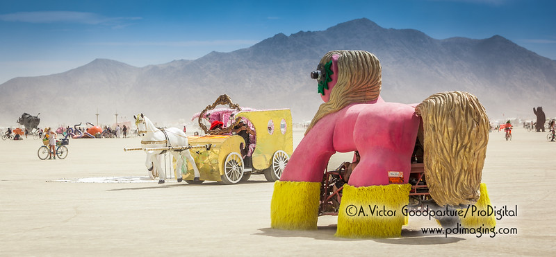 When rival toys meet on the playa. . .