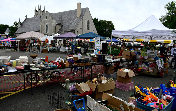 9/8/2018 Mike Orazzi | Staff The tag sale during Dozynki at St. Stanislaus Church in Bristol Saturday.