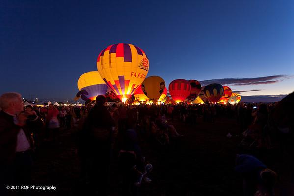 2011 Albuquerque International Balloon Fiesta - Glow and Fireworks