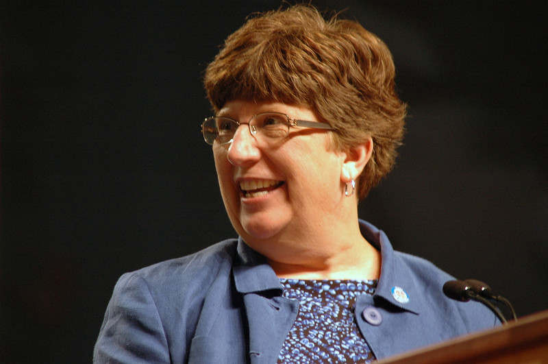 Nanette Dahlke, ELCA Vice President nominee speaks before the assembly.