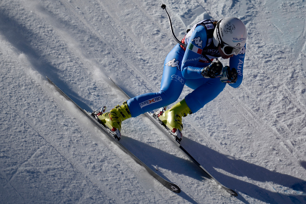 . BEAVER CREEK, CO - FEBRUARY 09: Kathrin Zettel of Austria competes during the men\'s alpine combined final. FIS Alpine World Ski Championships 2015 on Monday, February 9, 2015. (Photo by AAron Ontiveroz/The Denver Post)