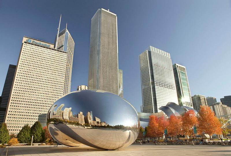 Chicago Bean on a crisp fall morning