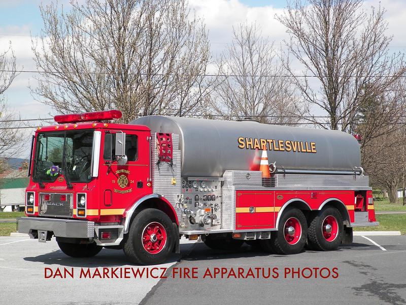 SHARTLESVILLE COMMUNITY FIRE CO. TANKER 41 1999 MACK/KME TANKER