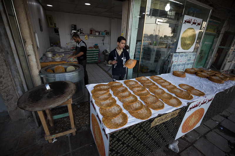 Khubz Shakar Al Ghadir (bread of thanksgiving) in Najaf, Southern Iraq.