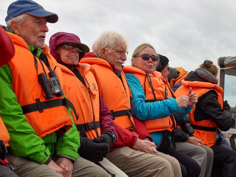 Holm and several fellow travelers at Jökulsárlón Glacier Lagoon
