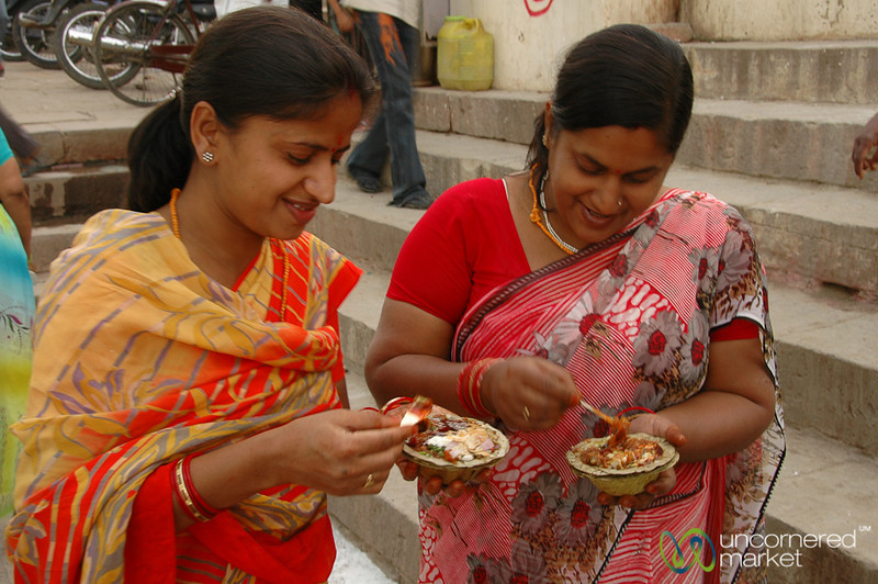 Enjoying an Afternoon Snack Together - Varanasi, India