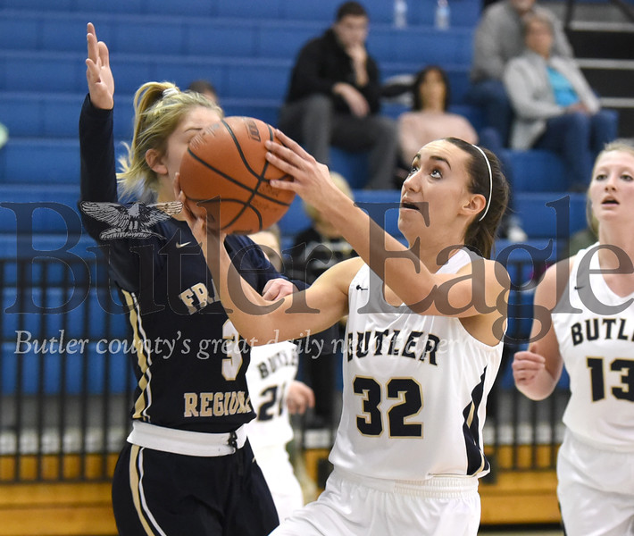 Butler vs Franklin Regional Girls basketball game at Butler High School