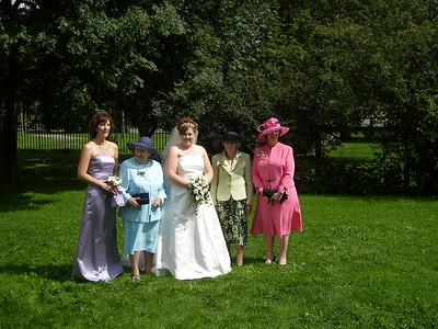 Lyndsey's wedding, August 2006