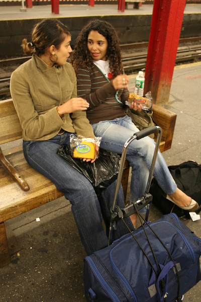 rhizlane and sabrina (the homeless french girls) - nyc