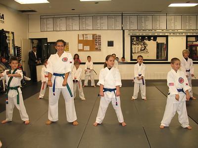 January 29, 2010 Color Belt Testing