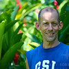 Rick, Master Gardener/Artist/Sculptor of beautiful gardens at Banana Azul