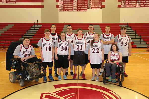 WHS Special K Basketball vs Chisholm Life Skills Center 021717