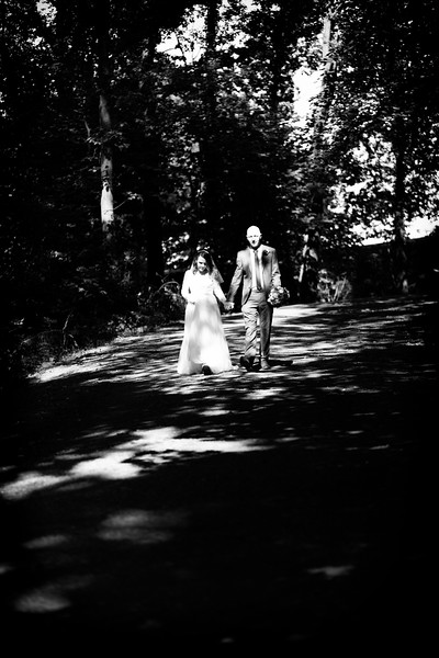 Bride and Groom Black and White Forest.jpg