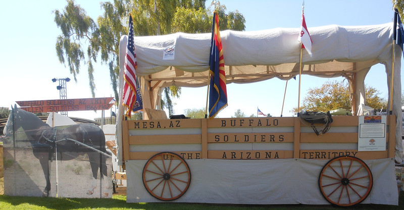 """The Official Arizona Centennial Legacy Project """"Buffalo Soldiers of the Arizona Territory's Military Wagon"""", Mesa, AZ  Parades and Displays"""