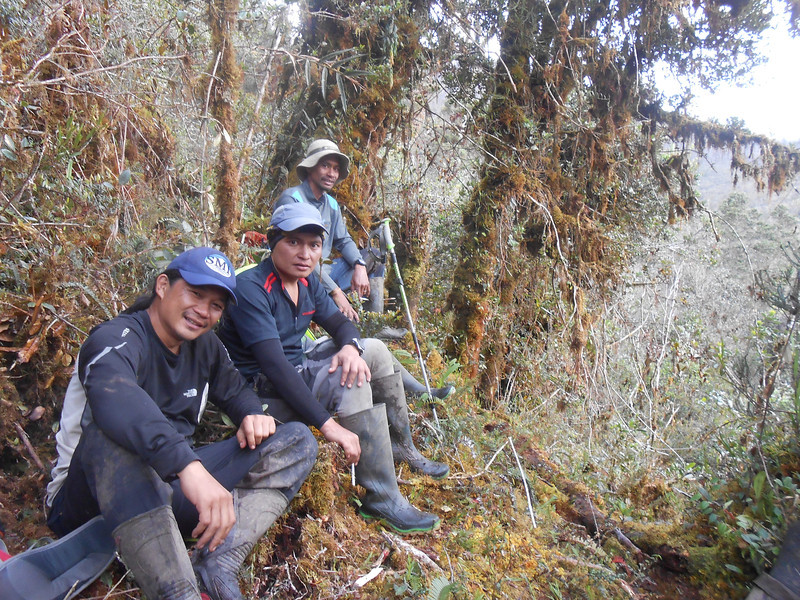 Three of our guides. Poxi - expedition leader is missing.