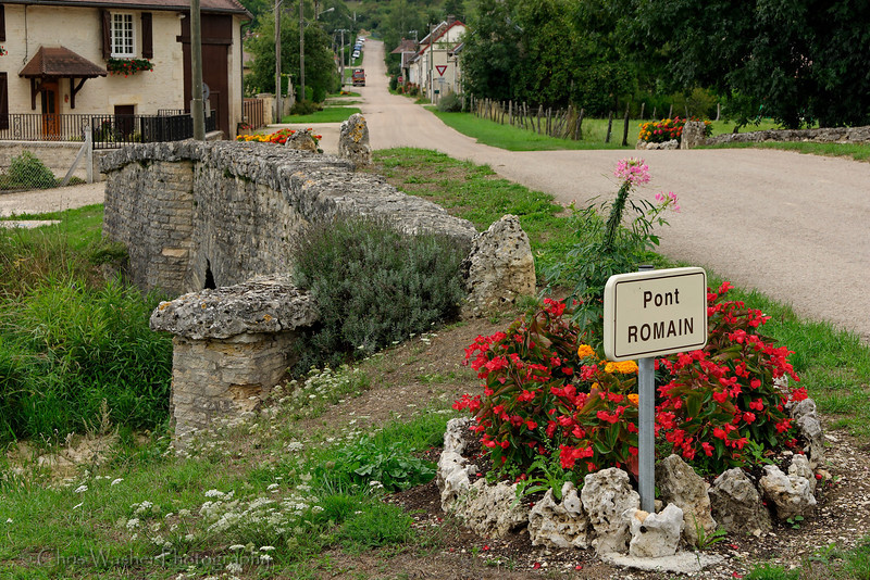 Ancient Roman bridge in Champagne region of France.  The river was not so nice as to intersect the road at a right angle so the Romans built the bridge diagonally across the water to keep the road straight.