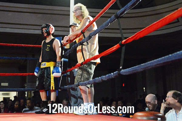 Bout #7  Glenn Mitchell, Boards BC, Stubenville, OH  vs  Greg Gilbert, West Side BC, Norwalk, OH  132 Lbs. - Novice