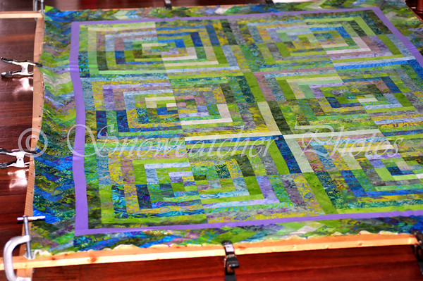 the old quilt frame