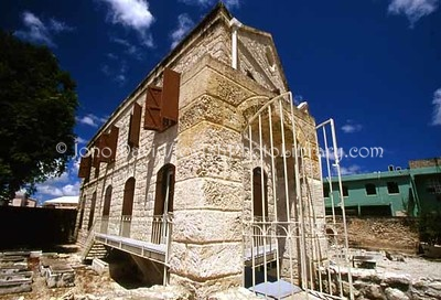 BARBADOS, Bridgetown. Nidhe Israel Museum (Barbados Jewish Museum -- former Jewish School building), opened August 2007. (2007)