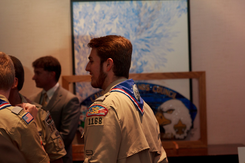 Eagle Scouts at NESA Meeting