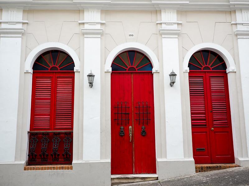Doors in Old San Juan, Puerto Rico