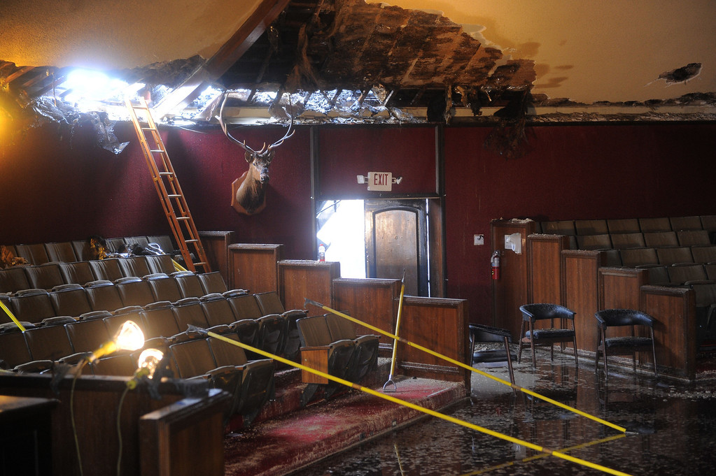 . Elks Lodge fire in San Pedro. Interior of Lodge Room where all meeting were held. (April 15, 2014. Photo by Brad Graverson/The Daily Breeze)