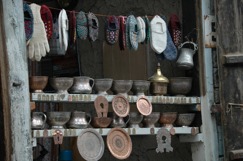 Handicrafts on Streets of Lahic, Azerbaijan