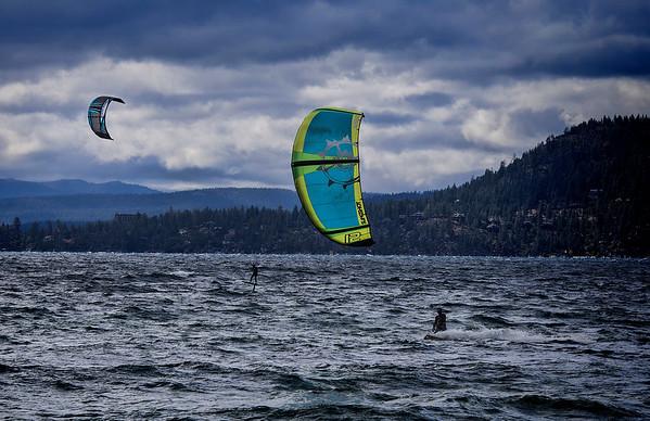 Kiteboarding at Lake Tahoe
