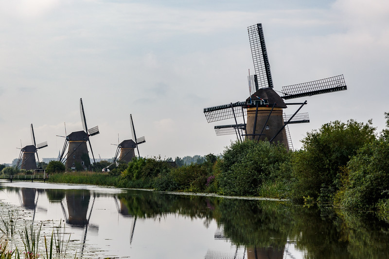 The famous Kinderdijk windmills, dating back to the 1730's and 1740's.