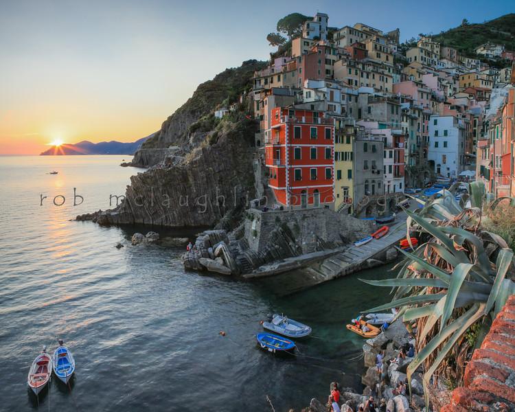 Riomaggiore Sunset  , Cinque Terre