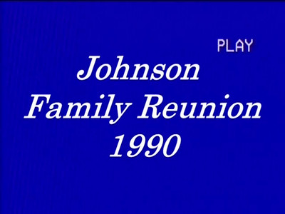 Family Reunion 1990