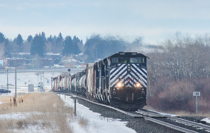 4407 with helper set on the M-MISLAU104 leaves Bozeman, MT.